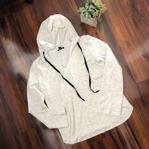 Anthropologie DREW soft hooded sweatshirt